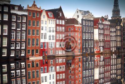 Traditionelle alte Gebäude in Amsterdam, Niederlande