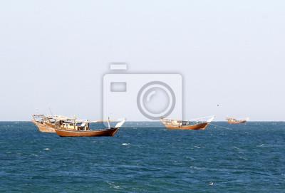 Traditionelle Fischerboote in Oman