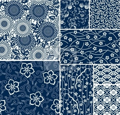 traditionelle japanische nahtlose Vektor-Muster