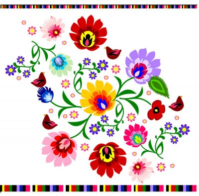 Poster Traditionelle polnische Volks floralen Muster Vektor