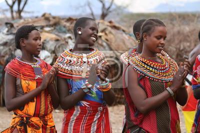 Poster Traditionelle Samburu Frauen in Kenia