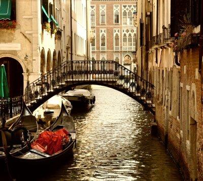 Poster Traditionelle Venedig gandola Fahrt