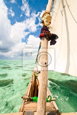 traditionellen Segelboot