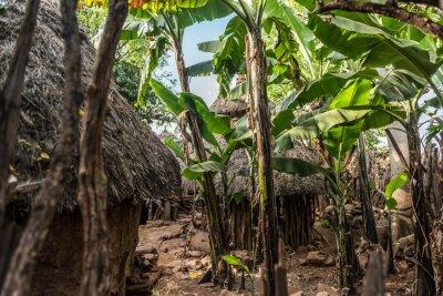 Traditionelles Konso-Dorf, Äthiopien
