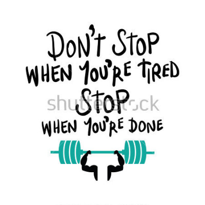 Poster Trainingsgymnastikeignungs-Bodybuildingmotivationskonzept / Vektordruckdesign