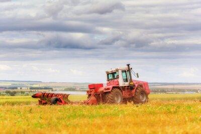 Poster Traktor auf dem Feld