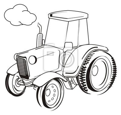 traktor malen einfach - malvorlagen gratis
