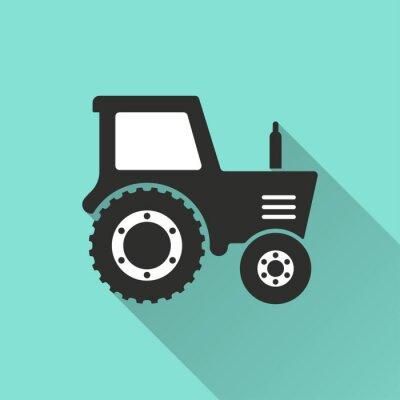 Poster Traktor - Vektor-Schaltfläche.