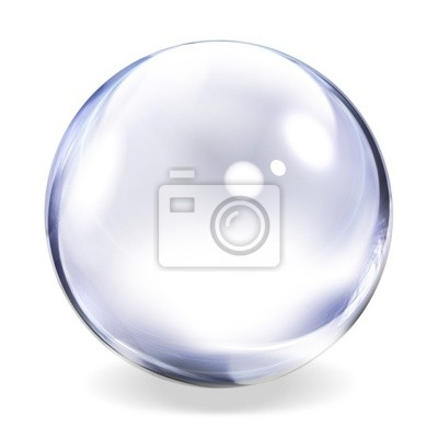 Poster Transparent Glass Sphere