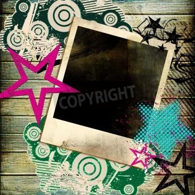 Poster trendy Retro-Hintergrund mit Instant-Frame