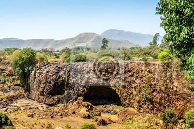 Trocknete Flussbett Blue Nile Falls