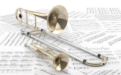 Poster Trombón y sobre Trompeta partituras 2