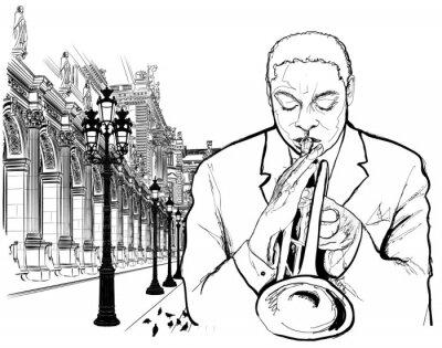 Poster Trompeter in Paris