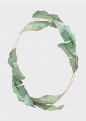 Poster Tropical leaves frame