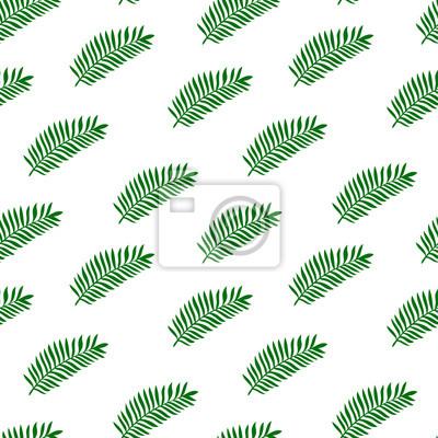 Poster Tropische Palmblätter, Dschungel Blätter nahtlose Vektor-Illustration eines floralen Hintergrundmuster. Konzept für Textilien oder Buchumschläge, Herstellung, Tapeten, Druck, Geschenkverpackung, Scrap
