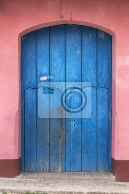 Tür eines typischen Kolonialhaus in Trinidad, Kuba