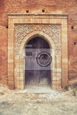 Tür in die Altstadt Medina in Rabat, Marokko