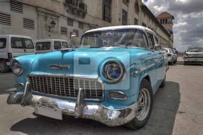 Türkis alten amerikanischen Auto in Havanna, Kuba