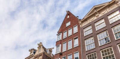 Typical dutch houses architecture. Amsterdam homes, Netherlands
