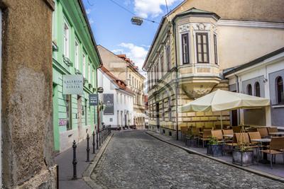 Typische Gasse von Ljubljana, Slowenien.