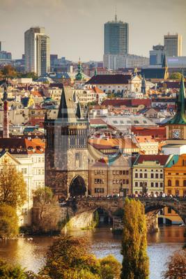 Übersicht des alten Prag mit der Karlsbrücke
