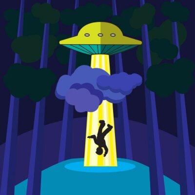 Poster UFO entführt eine Person
