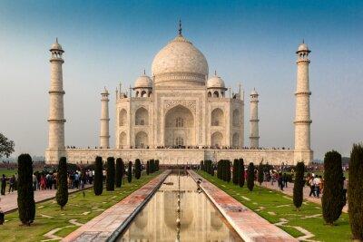 Poster UNESCO-Weltkulturerbe von Taj Mahal, Agra, Rajasthan, Indien