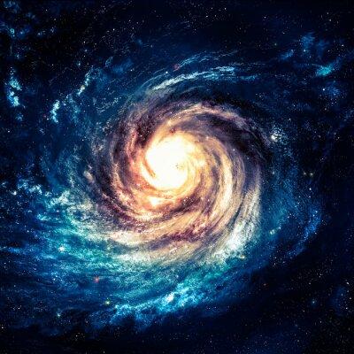 Poster Unglaublich schöne Spiralgalaxie irgendwo in den Tiefen des Weltraums