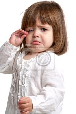 Unglückliches kleines Mädchen weint