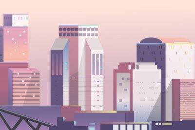 Poster Urban scene scene at dusk background vector