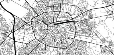 Poster Urban vector city map of Eindhoven, The Netherlands