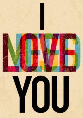 Poster Valentinstag-Typ text kalligraphische