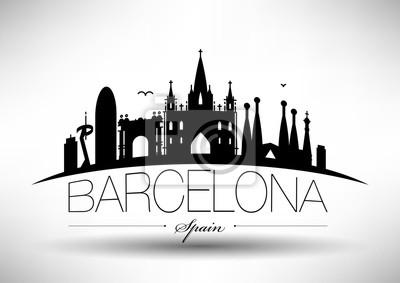 Vector Barcelona Stadt Skyline-Design