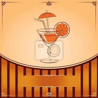 Vector Cocktailglas mit orange