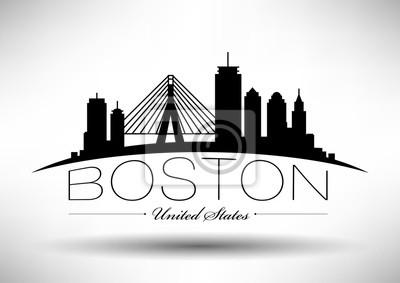 Vector Grafikdesign der Boston-Stadt-Skyline