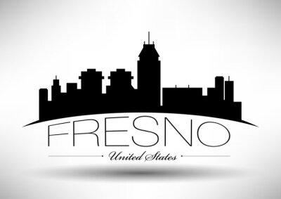 Vector Grafikdesign der Skyline von Fresno
