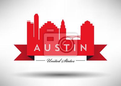 Vector Grafikdesign von Austin City Skyline