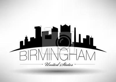 Vector Grafikdesign von Birmingham City Skyline
