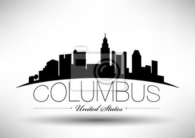 Vector Grafikdesign von Columbus City Skyline