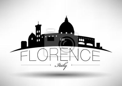 Vector Grafikdesign von Florenz Stadt Skyline