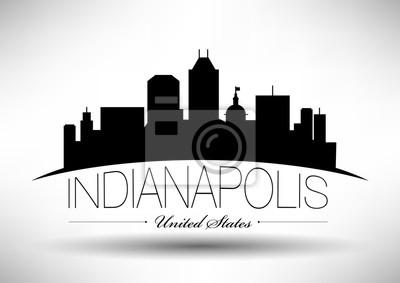 Vector Grafikdesign von Indianapolis City Skyline