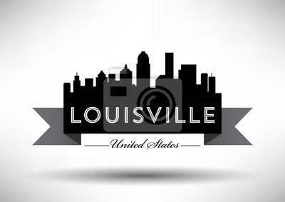 Vector Grafikdesign von Louisville City Skyline