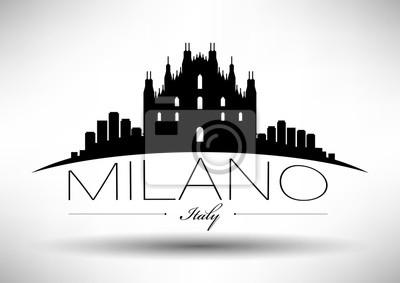 Vector Grafikdesign von Milano City Skyline
