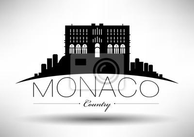 Vector Grafikdesign von Monaco City Skyline