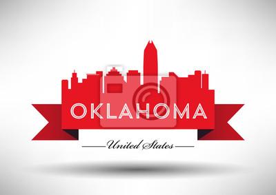 Vector Grafikdesign von Oklahoma City Skyline