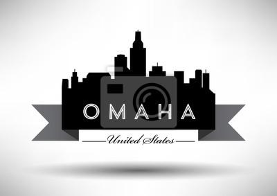 Vector Grafikdesign von Omaha City Skyline
