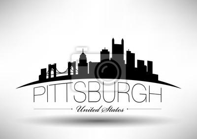 Vector Grafikdesign von Pittsburgh City Skyline