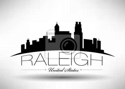 Vector Grafikdesign von Raleigh City Skyline