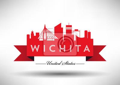 Vector Grafikdesign von Wichita City Skyline
