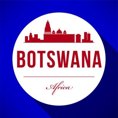 Vector Graphic Design of Botswana City Skyline
